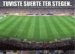 Enlace a Ter Stegen haciendo de Falso 1 contra el Atlético de Madrid