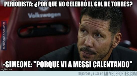 685200 - La espectacular respuesta del Cholo a ¿Por qué no celebró el gol de Torres?