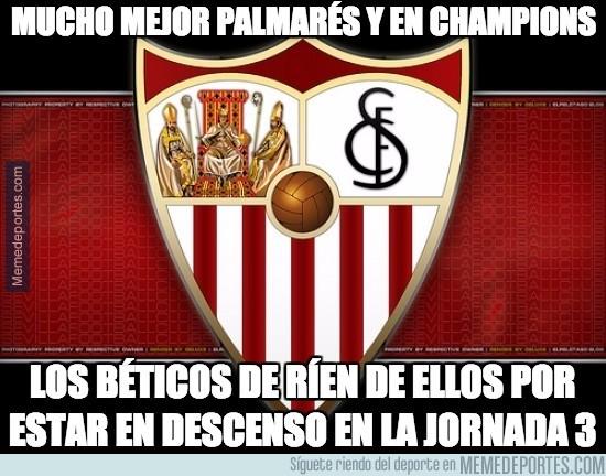 685458 - ¿Alguien entiende por qué los del Betis se ríen del Sevilla?