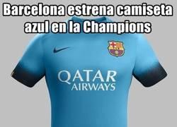 Enlace a Cuidado. El Barcelona y la camiseta de color azul