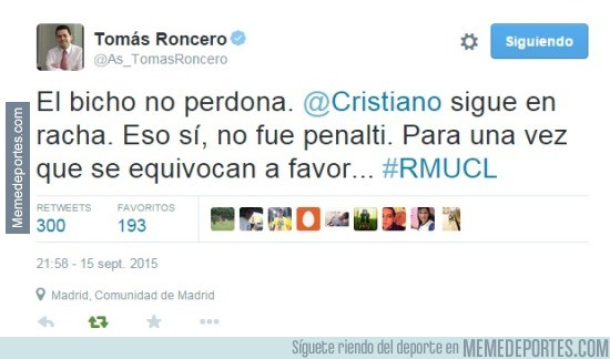 686710 - Roncero admitiendo un error arbitral a favor del Madrid. Photoshop