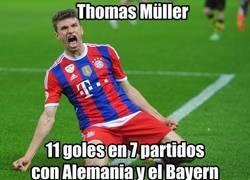 Enlace a La gran racha goleadora de Thomas Muller