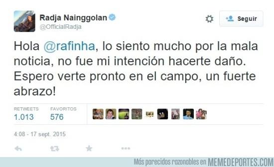 688324 - Nainggolan le pide disculpas a Rafinha a través de Twitter. ¿Es suficiente?
