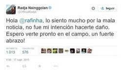 Enlace a Nainggolan le pide disculpas a Rafinha a través de Twitter. ¿Es suficiente?
