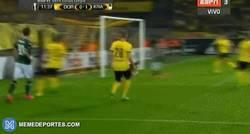 Enlace a GIF: El gol de Mamaev para el Krasnodar, se adelanta contra el BVB