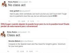 Enlace a Ricky Rubio nos muestra quien supo perder y quien no