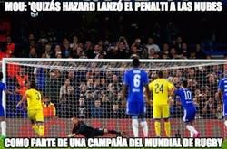 Enlace a Mou ironizó con el penalti fallado por Hazard en Champions