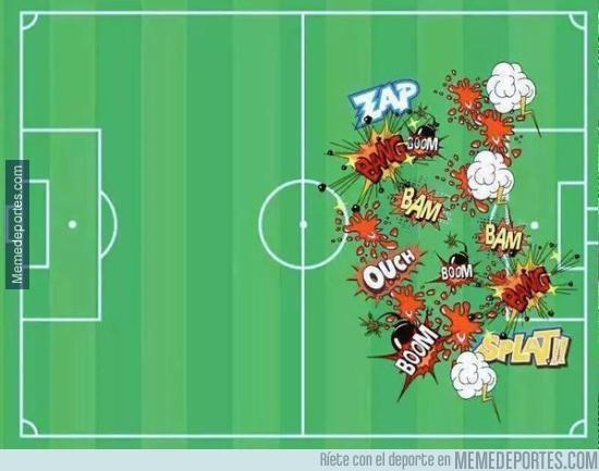 690043 - El mapa de calor de Diego Costa ante el Arsenal