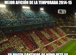 Enlace a Nombrada mejor Afición de la temporada 2014/15