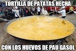 Enlace a Tortilla de patatas hecha con los huevos de Pau Gasol