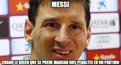 Enlace a Messi está confuso