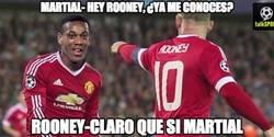 Enlace a A día de hoy, Rooney ya debe conocer a Martial
