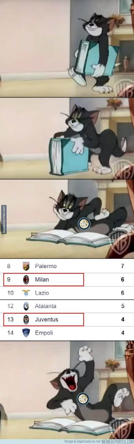 693030 - El Inter al ver a sus rivales de toda la vida en la clasificación de la Serie A