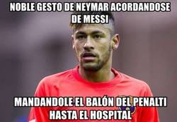 Enlace a Noble gesto de Neymar