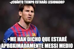 Enlace a Messi nos cuenta el tiempo que estará de baja