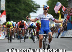 Enlace a A veces el ciclismo hace justicia: Peter Sagan gana el maillot arcoíris en Richmond