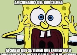 Enlace a Drama en los aficionados del Barça
