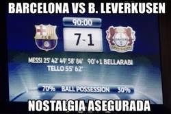 Enlace a Hace pocos años Messi le marcaba 5 goles al Leverkusen