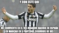 Enlace a Morata se está saliendo en la Juventus