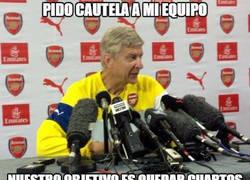 Enlace a Wenger pide calma tras ganar 3-0