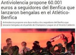 Enlace a La multa al Benfica y un café