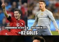 Enlace a Ni Lewandowski y Cristiano juntos pueden contra Messi