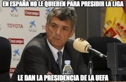 Enlace a Villar, al frente de la UEFA