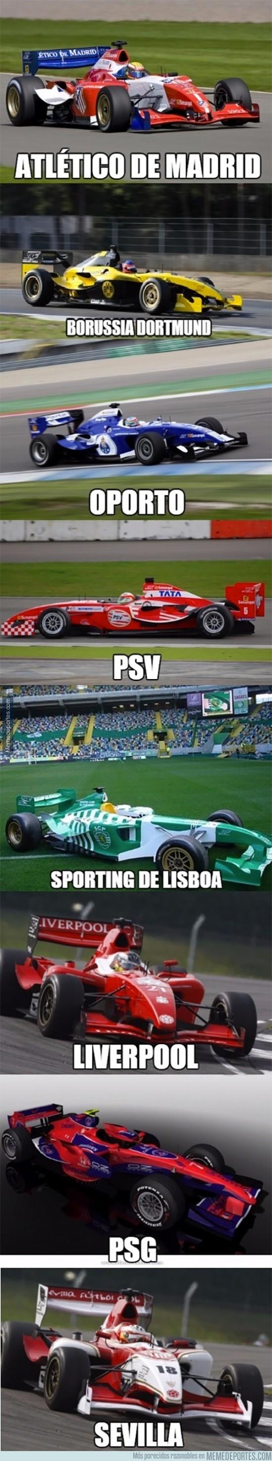 710610 - Si algunos equipos de fútbol tuvieran escudería en la Fórmula 1