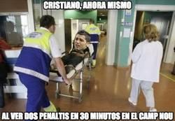 Enlace a Cristiano en estado grave