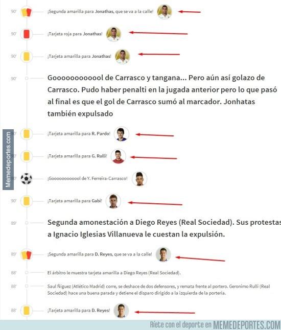 713171 - Puede parecer el UNO, pero son los últimos minutos del Real Sociedad-Atlético de Madrid