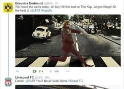 Enlace a Respuesta de los directivos del Liverpool al mensaje del BVB