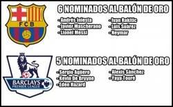 Enlace a La Liga BBVA y el Barcelona dominan la lista de nominados