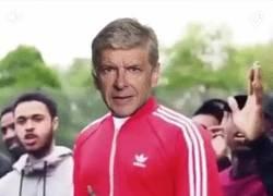 Enlace a GIF: Wenger después de la victoria contra el Bayern