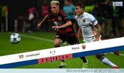 Enlace a El partidazo loco de la jornada: Resumen del AS Roma 4 - 4 Bayer Leverkusen