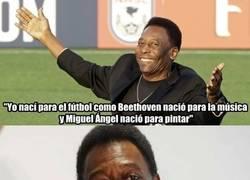 Enlace a Pelé y sus humildes declaraciones