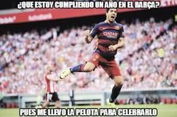 Enlace a Suárez lo celebra a lo grande
