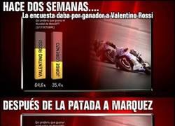 Enlace a Valentino Rossi ya no es tan favorito después de lo de Marquez