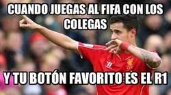 Enlace a El botón favorito de Coutinho en el FIFA