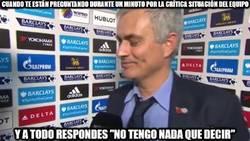 Enlace a Mourinho sin palabras ante la prensa