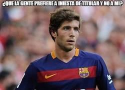 Enlace a Sergi Roberto ha hecho más en un partido que Iniesta en más de 1 año