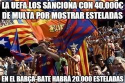 Enlace a El Barça desafía a la UEFA
