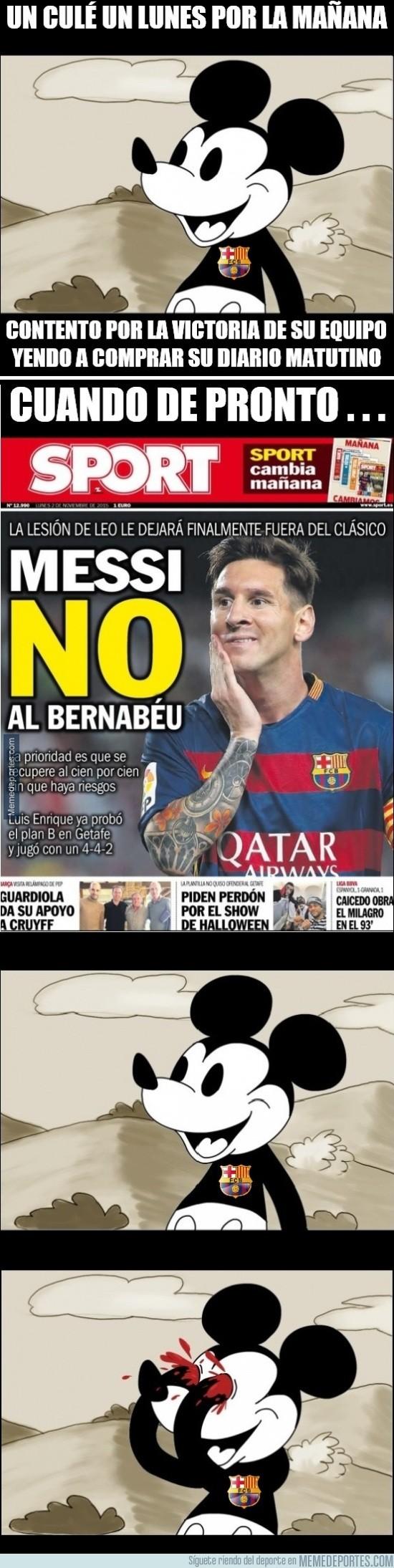 724050 - Messi se perdería El Clásico