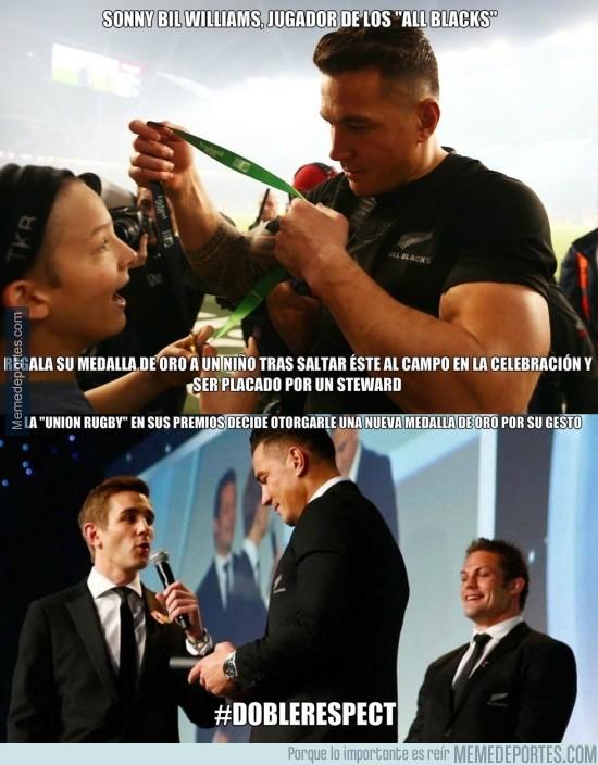 724173 - Grandes gestos de Bill Williams y la Union Rugby