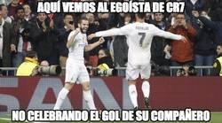 Enlace a Cristiano no celebra los goles de sus compañeros, decían