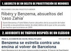 Enlace a Los escándalos de Benzema