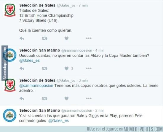 726967 - Pique entre los Twitter de Gales y San Marino