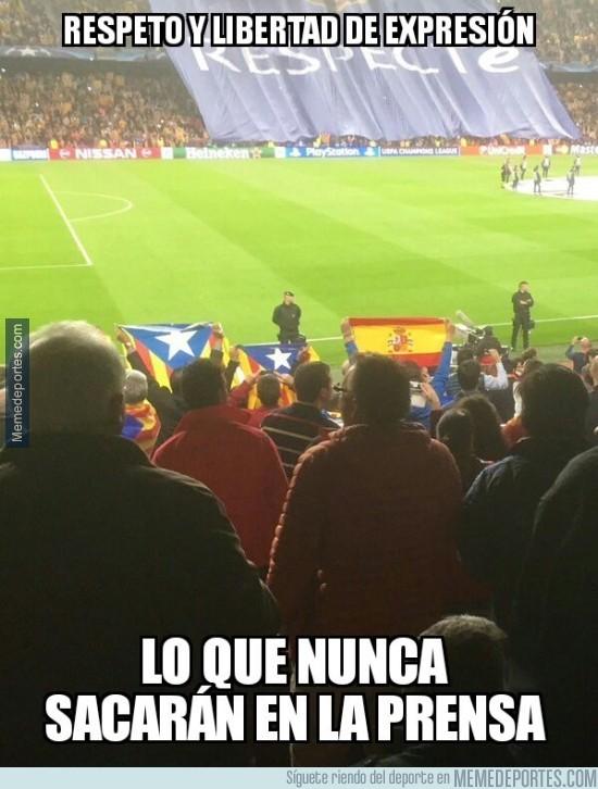 727367 - Parece que sí saben respetar en el Camp Nou