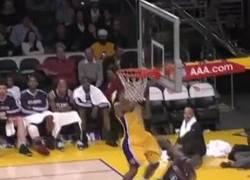Enlace a GIF: Hace tiempo, en el banquillo de los Lakers...