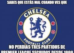 Enlace a El Chelsea cuesta abajo y sin frenos