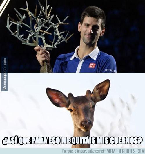 729522 - Curioso trofeo para Djokovic